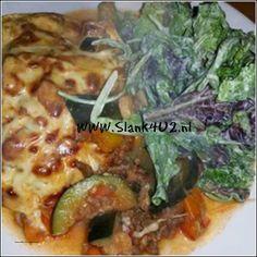 Italiaanse lasagne met courgette en mozzarella - Slank4u2