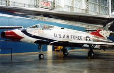 North American F-100 Super Sabre of the Thunderbirds, US Air Forces Museum, Dayton, Ohio, USA.
