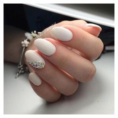 30 Chic Wedding Nail Art Ideas Your Mum Won't Yell at You For Wearing ❤ liked on Polyvore featuring beauty products, nail care, nail treatments and nails