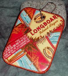 Luggage Tag from Kona Brewing Co Longboard Lager beer labels by squigglechick, $12.00