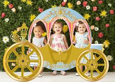 Giant Princess Carriage Photo booth Backdrop - PRINTABLE - Prop Baby Shower Wedding Cinderella Stage Theatre or Birthday Party Princess Birthday Party Decorations, Disney Princess Birthday, Cinderella Birthday, 2nd Birthday Parties, Princess Theme, Birthday Signs, Fourth Birthday, Princess Castle, Birthday Fun