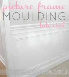 Crazy Wonderful: picture frame moulding - tutorial