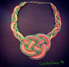 #collar #nudos #colores