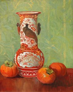 Still Life with Chinese Vase, Meredith Brooks Abbott; 2014; Oil on canvas