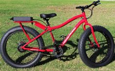 Pedego's Destroyer comes in flame red, neon yellow and green camouflage.  I need to start saving my money, I gotta get the red one.  This is so awesome!