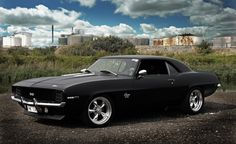 Matt black 1969 Camaro SS this will be my car one day.. My boyfriend has his mustang I will have my 69 camaro