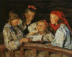 """El maestro pintor y maestro NikolaiBogdanov-Belsky """"Aritmética mental en la escuela pública de Rachimsky"""", Óleo sobre lienzo, NikolaiBogdanov-Belsky, 1896, colección privada. Hoy trae…"""