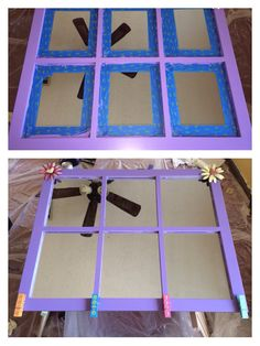 painted purple and added the metal flowers hobby lobby lobby and painted cloths pins cost plus world market she can hang art work or pictures from them