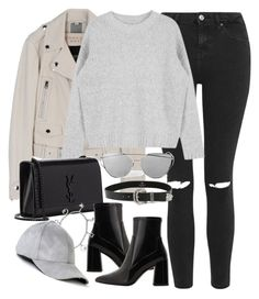 """""""Untitled #2007"""" by sophiasstyle ❤ liked on Polyvore featuring Topshop, Yves Saint Laurent, MANGO and B-Low the Belt"""