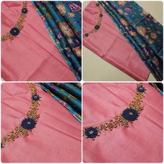 Zardosi Embroidery, Embroidery Works, Hand Embroidery Designs, Embroidery Dress, Beaded Embroidery, Salwar Neck Designs, Churidar Designs, Blouse Designs, Neck Patterns For Kurtis