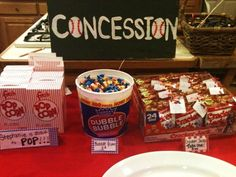 Baseball themed shower- Concession food