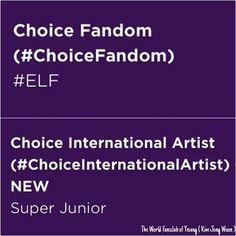 Super Junior won #ChoiceInternationalArtist & ELF won #ChoiceFandom at Teen Choice Awards!!Congrats&Good job ELFs