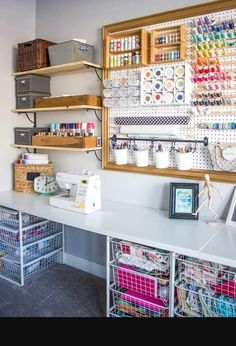 Sample Craft Shed Organization. I Love The Open Shelves And Baskets  Underneath.