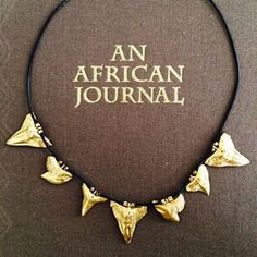 Mikumi Collection, made with gold plated shark teeth pendants Jewelry Collection, Shark, Teeth, Plating, African, Pendants, Gold, Hang Tags, Tooth