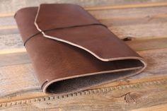 Super Soft Lewis Leather Quill Traveler's Notebook.  Protect your precious inserts with this thick leather that is soft and pliable.  Leather Quill Travelers Notebook from The Leather Quill Shoppe.  Handmade Leather Planners and Boho Planning Accessories