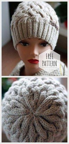 b0bb6fda757 Braided Hat Free Pattern Beanie Knitting Patterns Free
