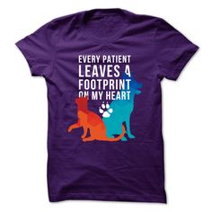 """Every patient leaves a footprint on my heart – teelime"" T-shirt #vettech #veterinary #veterinarian #vaterinarymedicine #vet"