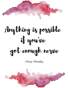 Daily wisdom from Ginny Weasley 💁🏻♀️ . Hp Quotes, Disney Quotes, Cute Quotes, Book Quotes, Harry Potter Jokes, Harry Potter Fan Art, Fantasy Quotes, Inspirational Quotes For Kids, Harry Potter Wallpaper