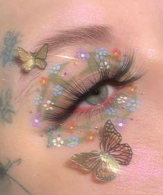 Cute Makeup Looks, Makeup Eye Looks, Eye Makeup Art, Fairy Makeup, Pretty Makeup, Indie Makeup, Edgy Makeup, Makeup Inspo, Makeup Inspiration