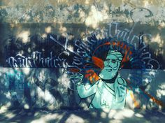 By #retrograffitism & @Akirovitch #akirovitch #streetart #graffiti #graff #spray #bombing #wall #paris