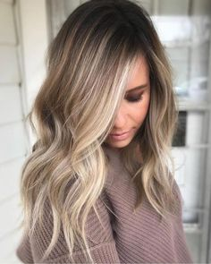 Blonde Wavy Color Hair