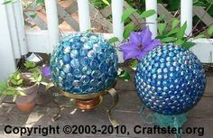 Marbles gazing ball for garden