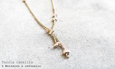 Tassia Canellis collier doré perles arge #TassiaCanellis #collier #necklace #golden #perles #matieresareflexion #french #frenchfashion