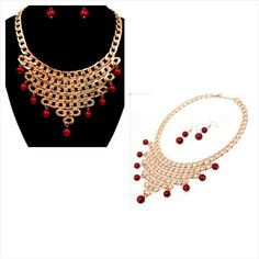 Gold/red Fashion set · Dezon Le Blanc Boutique · Online Store Powered by Storenvy
