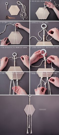 In this guide, you will see 20 daring DIY mirror frame projects you can try to make your mirrors interesting again. Read on and select your project! Diy Deco Rangement, Macrame Mirror, Macrame Knots, Diy Macrame, Creation Deco, Macrame Tutorial, Bracelet Tutorial, Macrame Projects, Diy Décoration