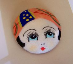 Vintage Betty Boop FLAPPER Painted Silk by NiftyThriftyDryGoods,