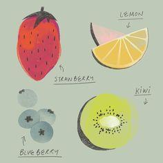. Strawberry Kiwi, Mixed Fruit, Berries, Lemon, Bury, Blackberry, Strawberries