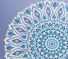 トルコの絵皿風ブルードイリー・大