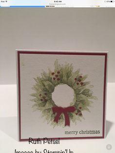 Diy Christmas Cards, Stampin Up Christmas, Christmas Signs, Xmas Cards, Handmade Christmas, Holiday Cards, Christmas Crafts, Christmas Boxes, Christmas 2017