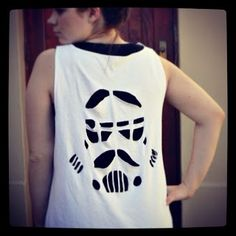 DIY Tutorial: How to make a Stormtrooper cut-out shirt.