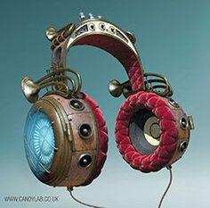 Jules Verne Steampunk Headphones