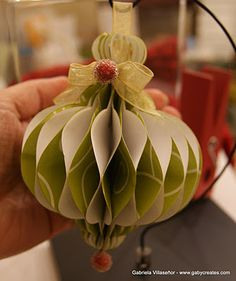 Great paper ornament..tutorial is included..