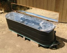 #goatvet says while frozen water pipes are generally not an issue for Australians this DIY Stock Tank Solar Hot Water Heater will help those from colder climates