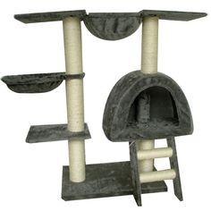 Albero Tiragraffi Giocchi Sisal Gatto Palestra Gatti 105 cm Peluche grigio | eBay