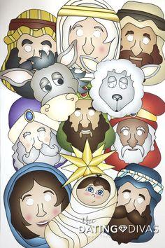 Free Printable Christmas Nativity Masks