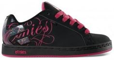 Black and Pink Etnies <3 Want!!