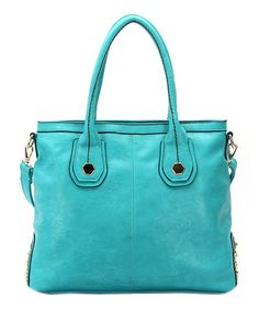 Take a look at this Turquoise Hannah Shoulder Bag by Robert Matthew on #zulily today!