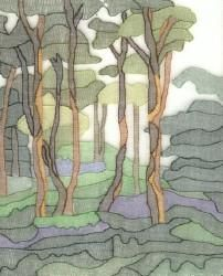Shadow Work Forest Hand Embroidery by Tanja Berlin: Berlin Embroidery Designs