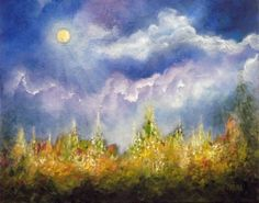 Reaching For The Light, Landscape Garden Oil Painting by Marina Petro, painting by artist Marina Petro