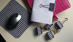 #DIY fabric-covered desk accessories