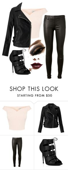 """Bad ass"" by mal-flower46 ❤ liked on Polyvore featuring Miss Selfridge, AG Adriano Goldschmied and LASplash"