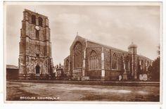 BECCLES CHURCH, N.E. - REAL PHOTO POSTCARD (ref DEB1565) | eBay