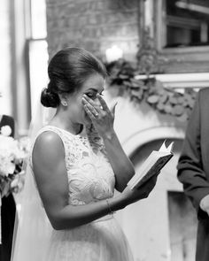 It was a bit tear jerking to be reading our vows reminiscing on all