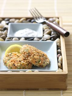 Recipe For Salmon Spa Cakes - Loaded with protein and omega 3 fats and with a low glycemic index, this savoury appetizer is a perfect choice to serve your guests—the health benefits and taste cannot be beat.