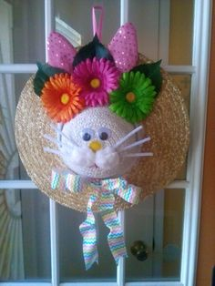 Easter bonnet wreath