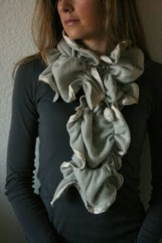 scarf from old cashmere sweater